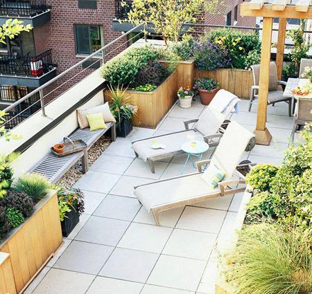 Modern tetőkert