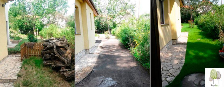 Kertfelújítás, hátsó kert - Budapest XXII. kerület
